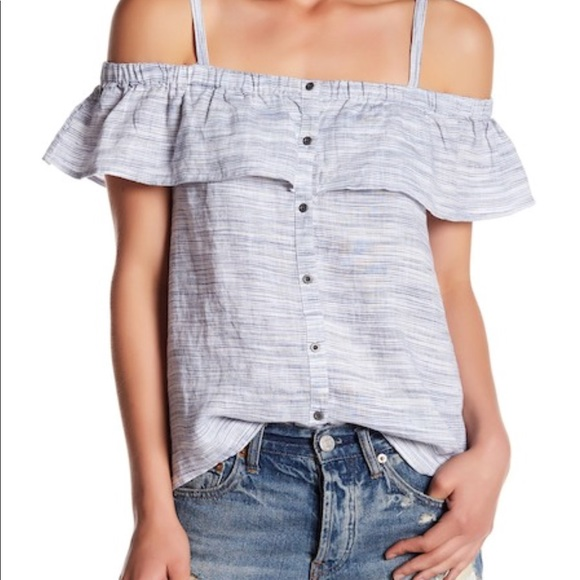 c2b79cd0102e0 New Lucky brand off shoulder chambray top B70